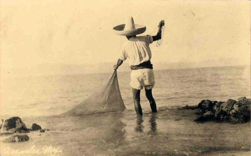 Pescador, EN LA BAHIA DE ACAPULCO 1915