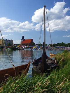 Poland - viking boats in Wolin
