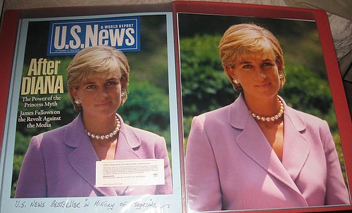 Princess Diana (of Wales) magazine and original photo  © copyright  2009