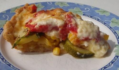 Squash & Tomato Pie