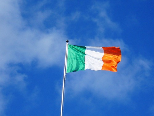 Irish flag over Dublin by dw438