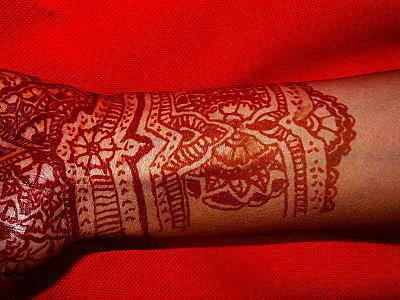 henna tattoo original glove design for hand and wrist