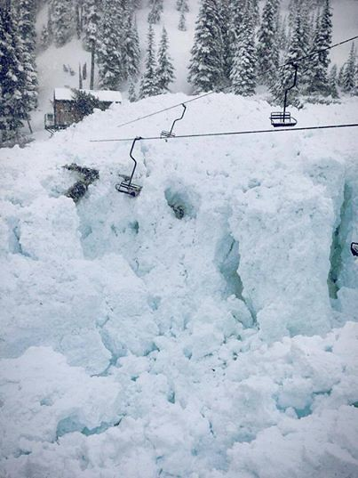 Avalanche at Crystal Mt., Wash