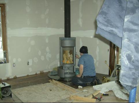 how to clean a wood stove chimney