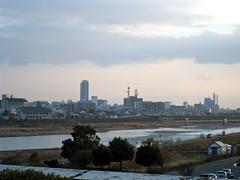 長良川国際会議場からみた長良川
