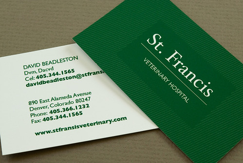 green veterinary business card green veterinary business flickr photo sharing. Black Bedroom Furniture Sets. Home Design Ideas