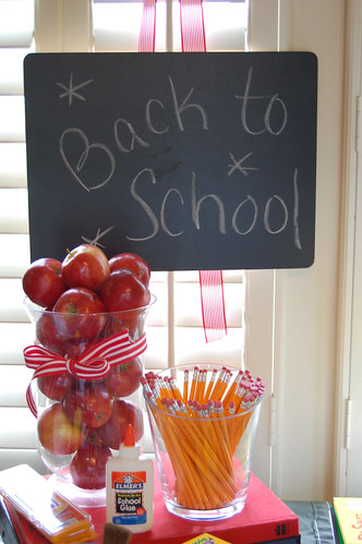 Kami buchanan custom designs fun back to school party ideas for Back to school decoration ideas