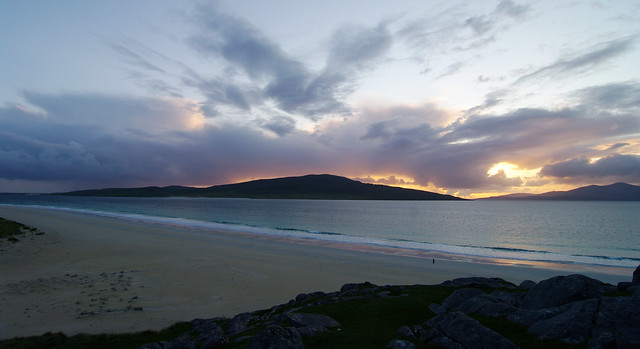 Night is coming to Outer Hebrides