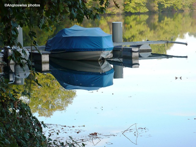 Boat moored on the River Aare