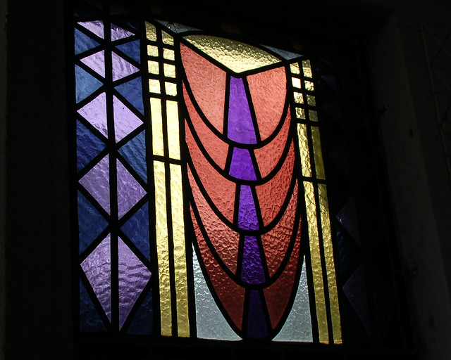 Contemporary stained glass window flickr photo sharing for Contemporary stained glass