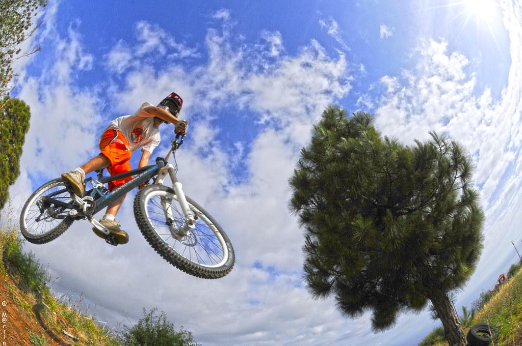 Biker Jump Blue Sky