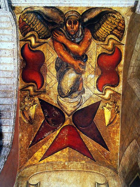 El espiritu de occidente o los elementos fresco by david for El mural de siqueiros