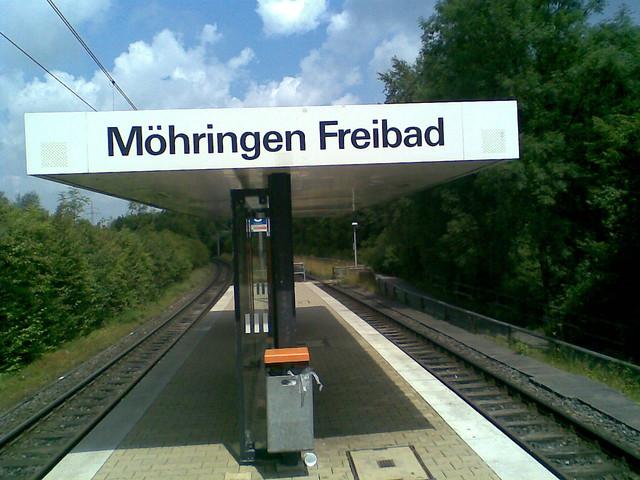 Haltestelle Möhringen Freibad