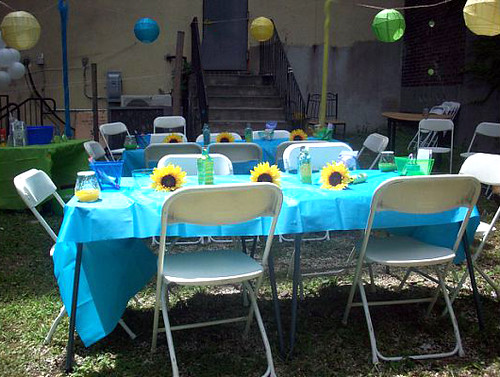 baby shower table setup flickr photo sharing