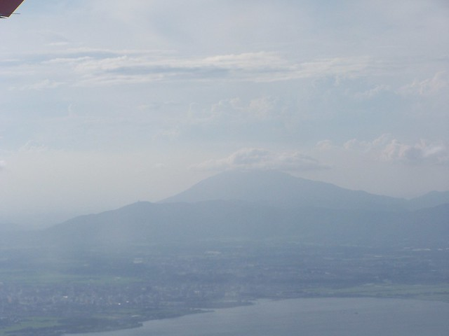 flight - japan (our first view of fuji)