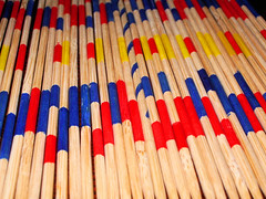 Sticks lined up