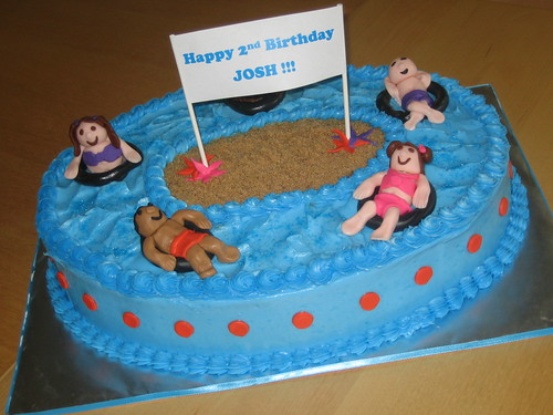 Water Park Themed Birthday Cake I Was Asked To Create A