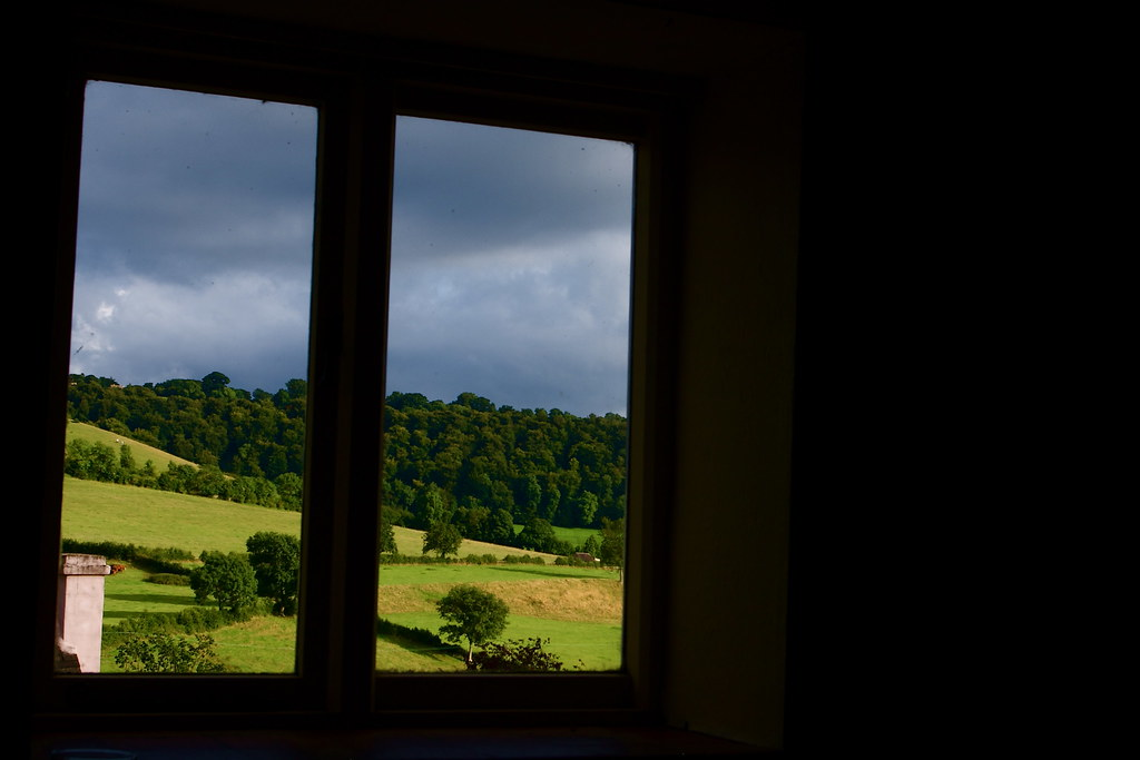 View out of a Gloucestershire pub window