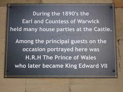 Photo of Edward VII, Francis Greville, and Frances Evelyn Greville grey plaque
