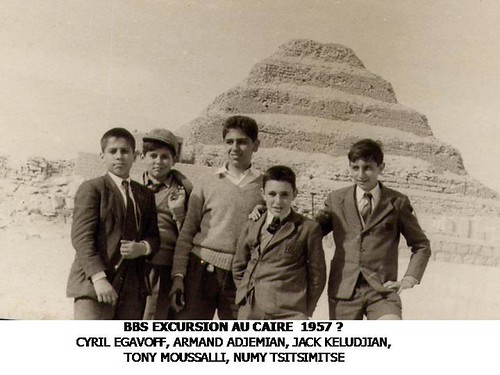 British Boys' School Expedition to the Step Pyramids, Cairo - 1957?