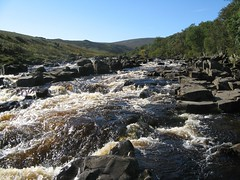 The River Tees at High Force Waterfall, Teesdale, County Durham North East