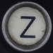 typewriter key letter Z