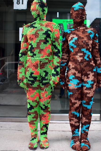 100% Acrylic Art Guards by Agata Olek / Dumbo Arts Center: Art Under the Bridge Festival 2009 / SML.20090926.10D.54531.P1.L1