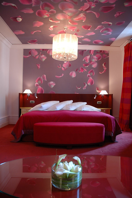 romantic room in petal of rose style at the hotel de la