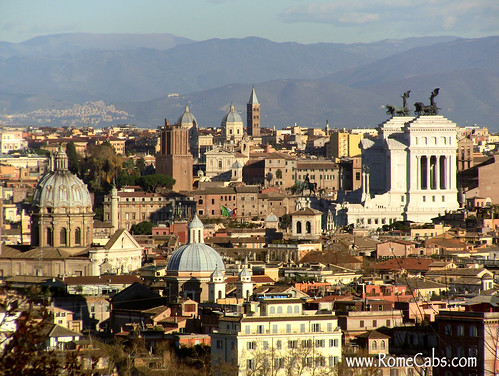 Rome from the distance (Rome in A Day Tour)