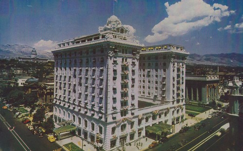 vintage hotel utah postcard saltlakecity hotelutah