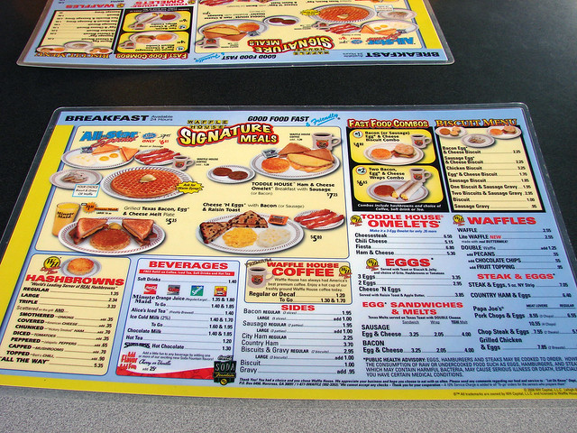Waffle House Menu With Prices Waffle House Menu Flickr