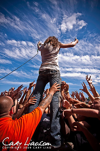 Underoath at Warped Tour 2009 by Cary Liao