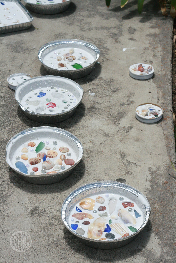 Sea shell mosaics alpha mom for Paris themed crafts for kids