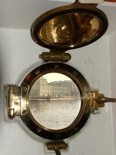 View through Porthole of Aurora Battleship - St. Petersburg - Russia