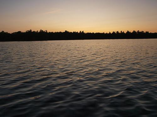 sunset lake ontario canada water silhouette ripple bucklake