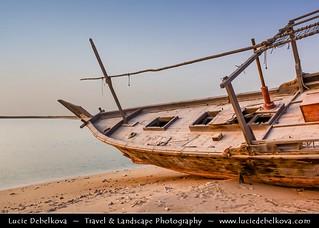 Qatar - Early Morning at Al Wakra and its Dhow (Boat)