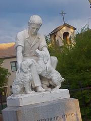 Buddy and his human at Alba Park