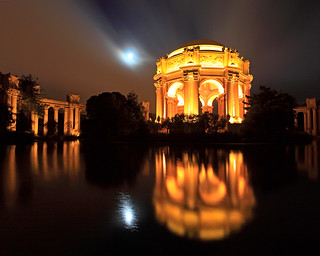 Palace of Fine Arts and Full Moon