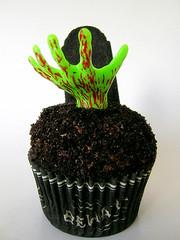 Zombie Halloween Cupcakes