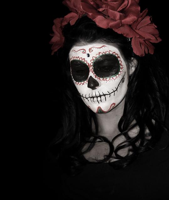 sugar skull | Flickr - Photo Sharing! Sugar Skulls Face Paint Black And White