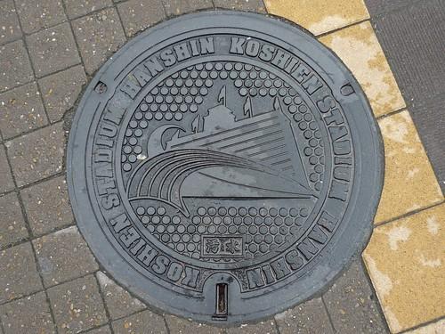 HANSHIN KOSHIEN STUDIUM's manhole cover(阪神甲子園球場のマンホール)