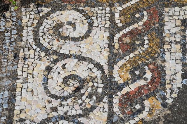 Mosaic floor with geometric motifs, Roman Villa of Pisões, Lusitania, Portugal
