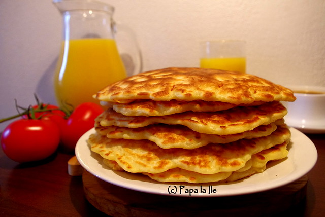 Pancakes cu cascaval si sunca (1)