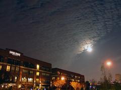 Full moon over Sabine Lofts