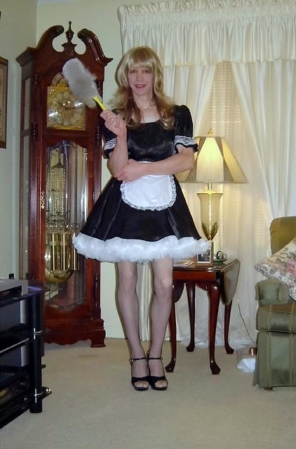 Red pvc blonde maid fucked hard 6