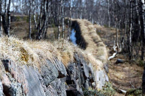 Stone wall near Kiruna Church