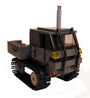 Snow track vehicle