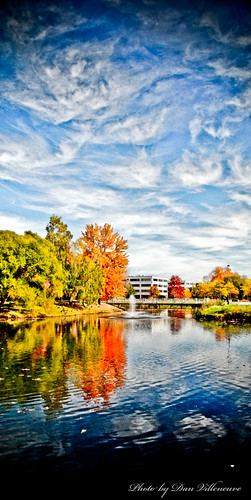 fountain clouds office pond nikon fallcolors 18200mmvr d80