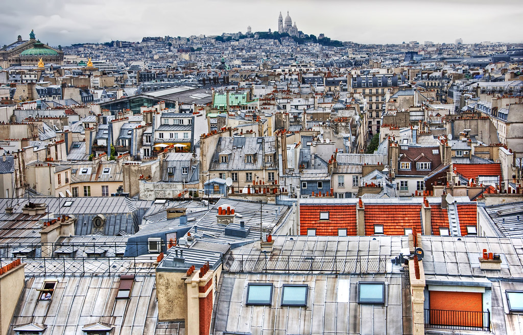 Paris Rooftops by Faddoush