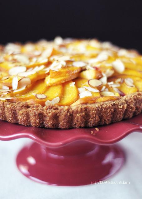 Black-bottom peach-almond tart | for Sugar High Friday event ...